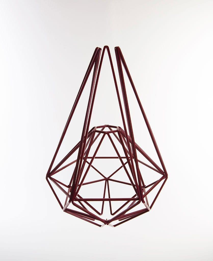 hibiscus geometric cage light shade large