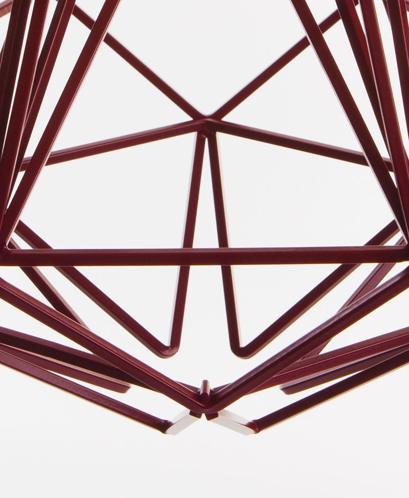 hibiscus cage pendant light close up
