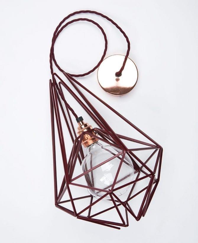 hibiscus cage pendant light flat lay