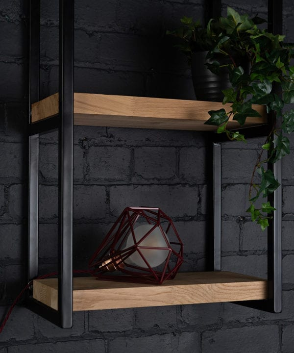 Hibiscus burgundy cage table lamp