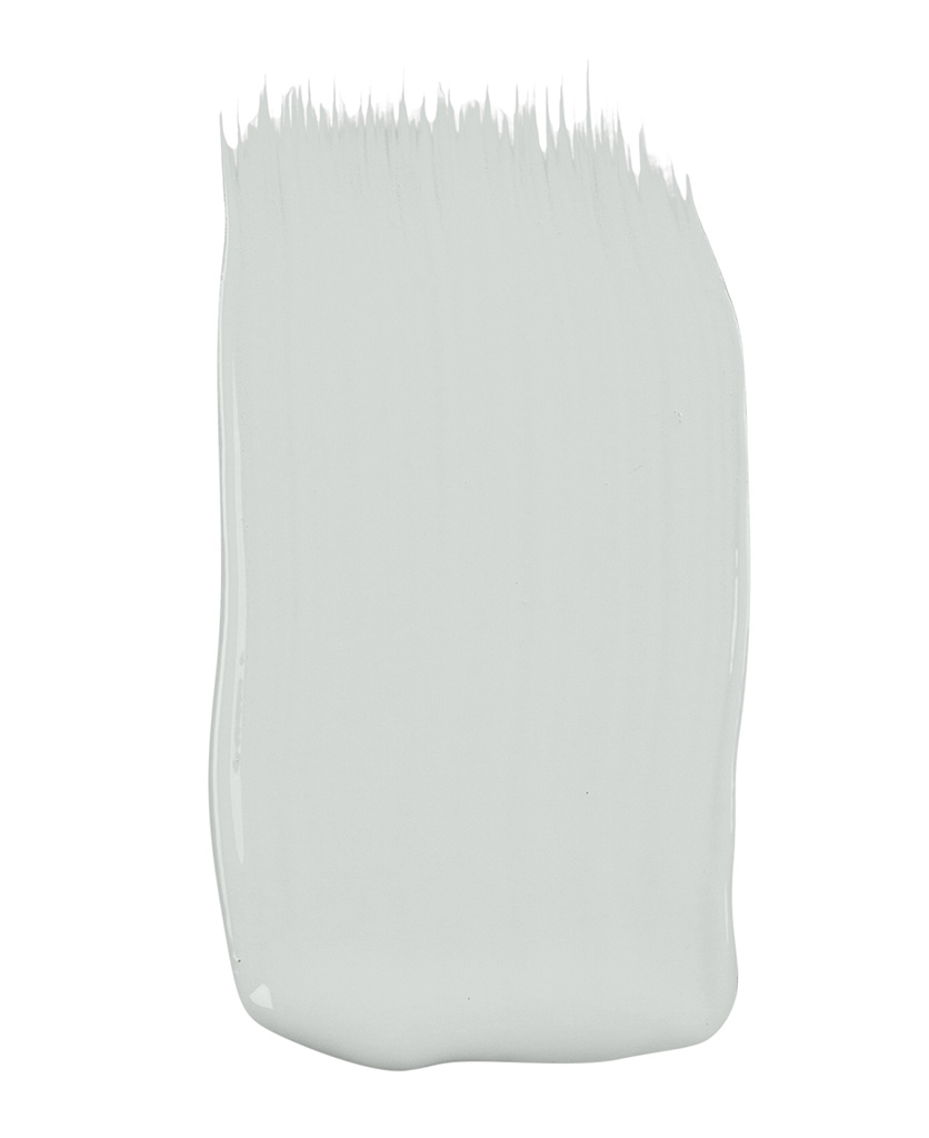 light grey wall paint sample on white background