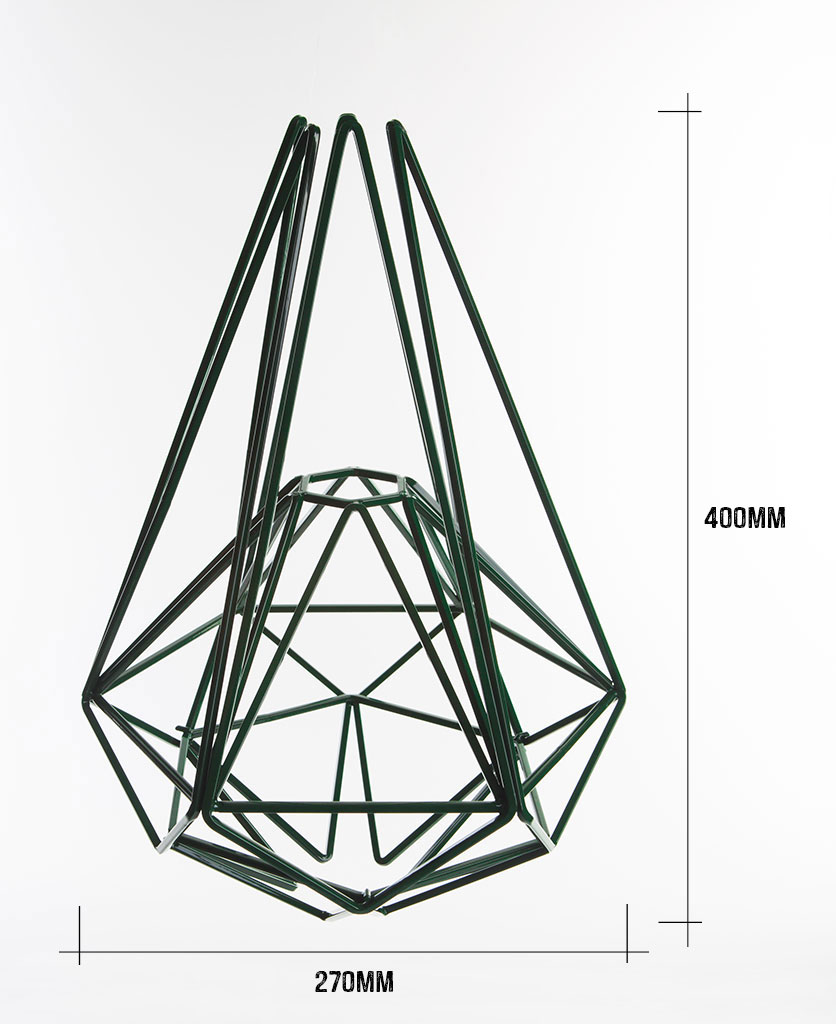 oolong cage pendant light dimensions