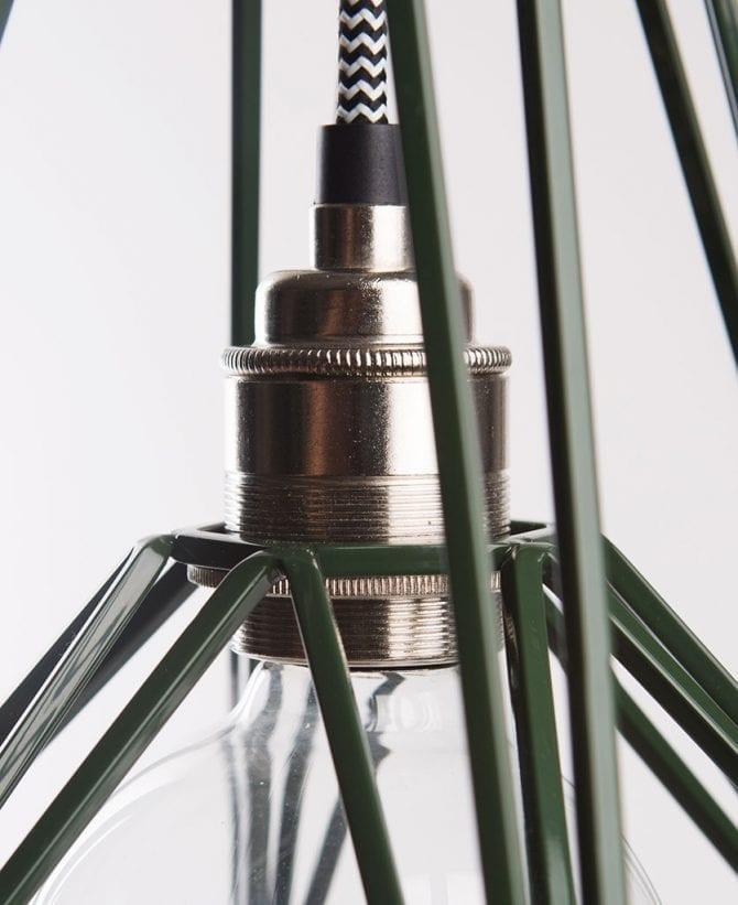 matcha cage pendant light closeup