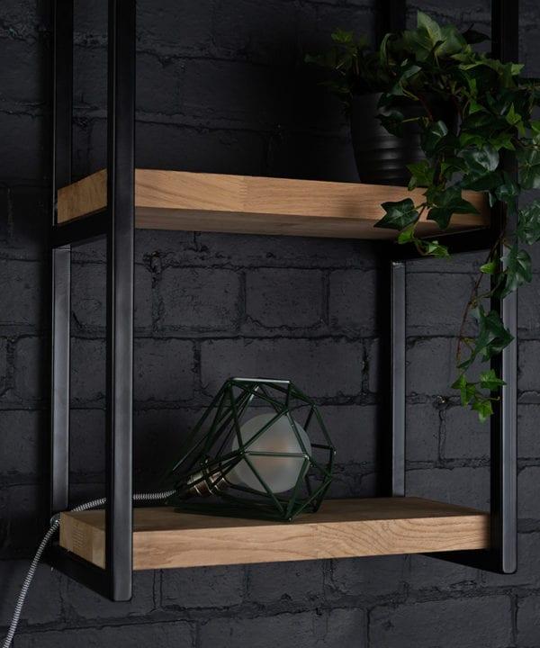 Matcha dark green cage table light