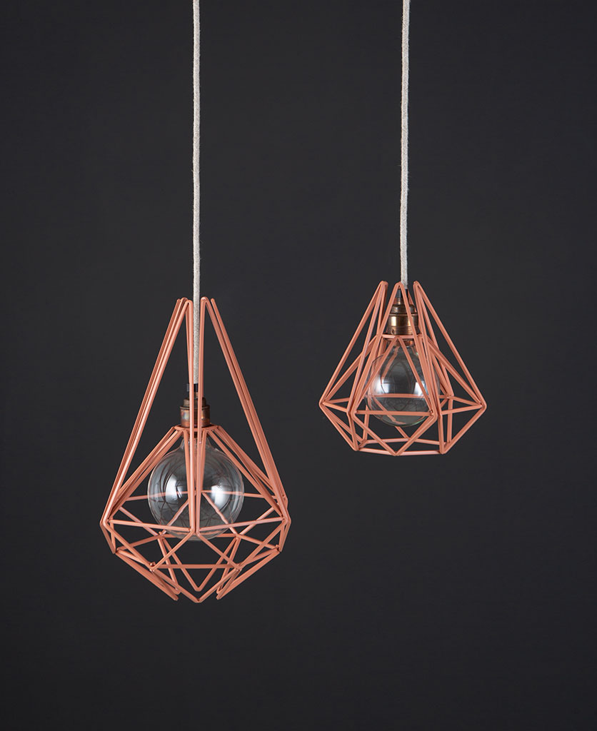 PINK CHAI cage pendant light