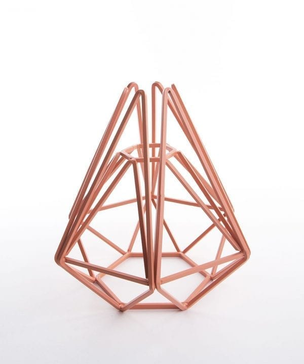 pink chai geometric cage light shade small