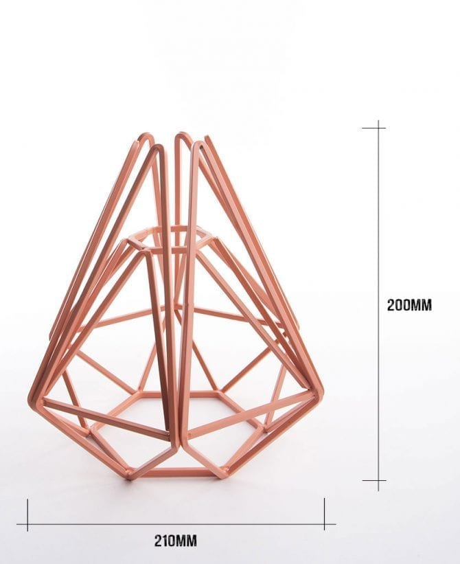 pink chai cage table lamp dimensions