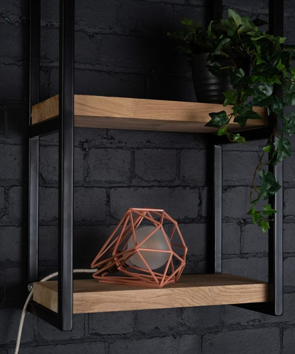 Pink Chai cage table light