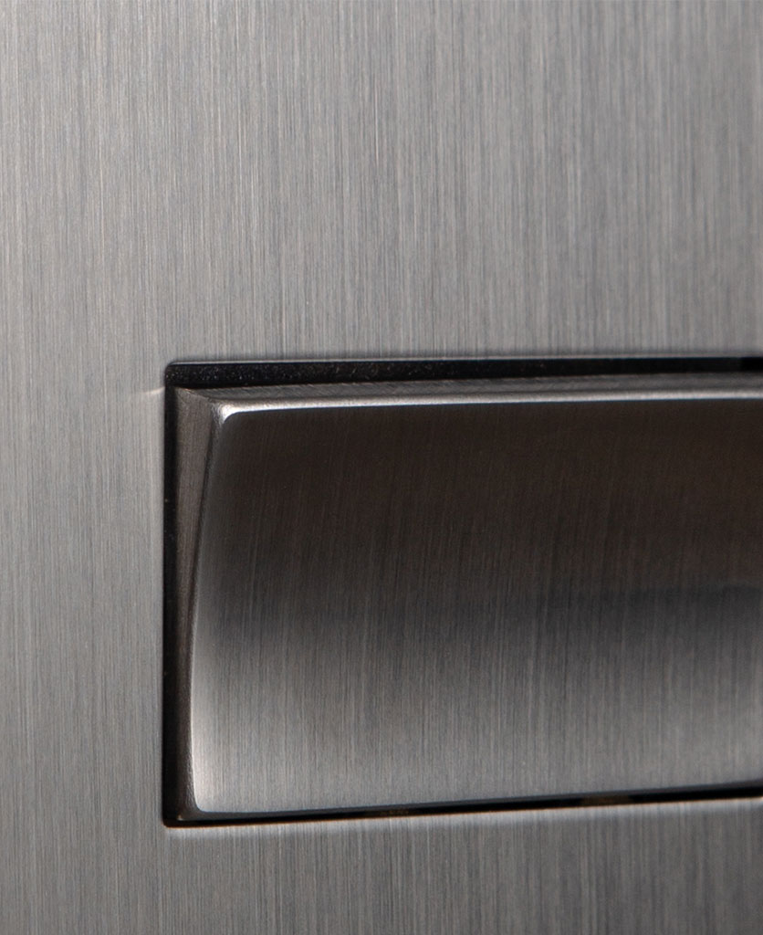 closeup of silver fan switch