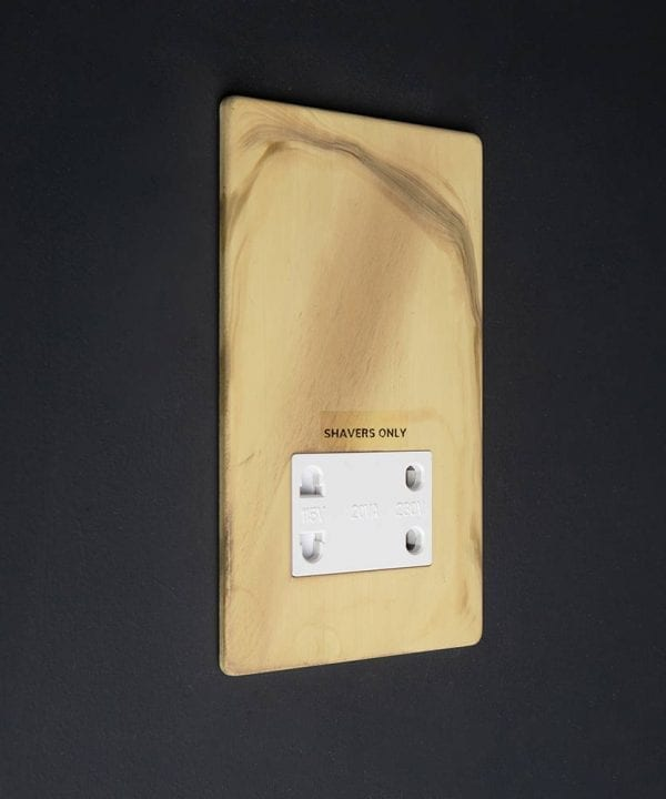 Smoked Gold Shaver socket with white insert