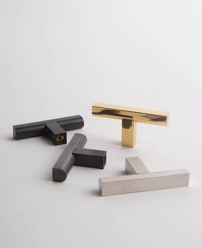 Taipei metal t-bar drawer and door pull handle