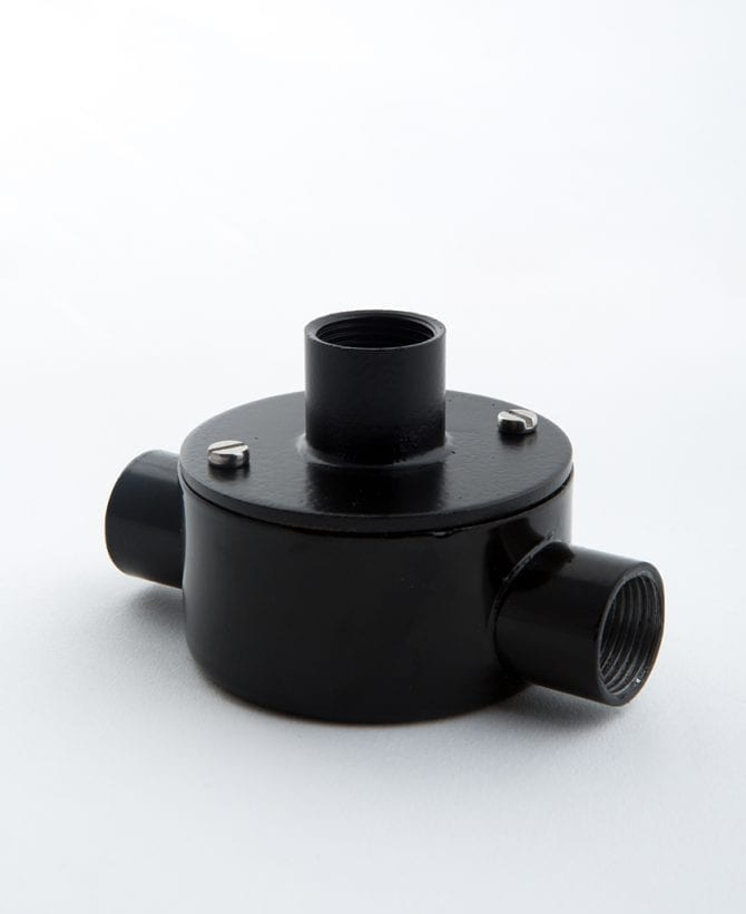 black double entry pattress adapter
