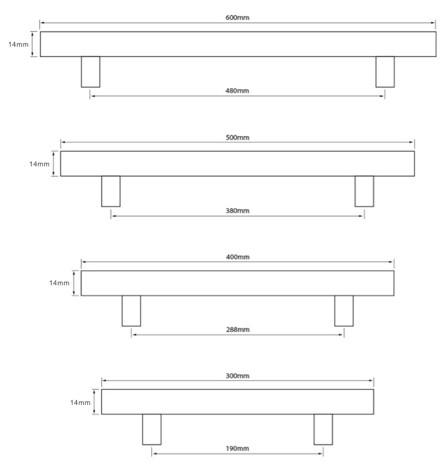 Chunky Handle Dimensions Chart