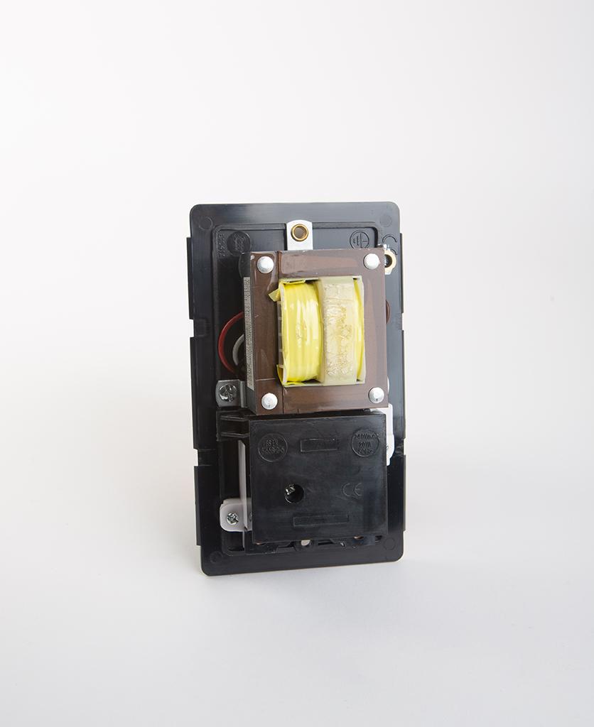 back view of shaver socket back plate against white background
