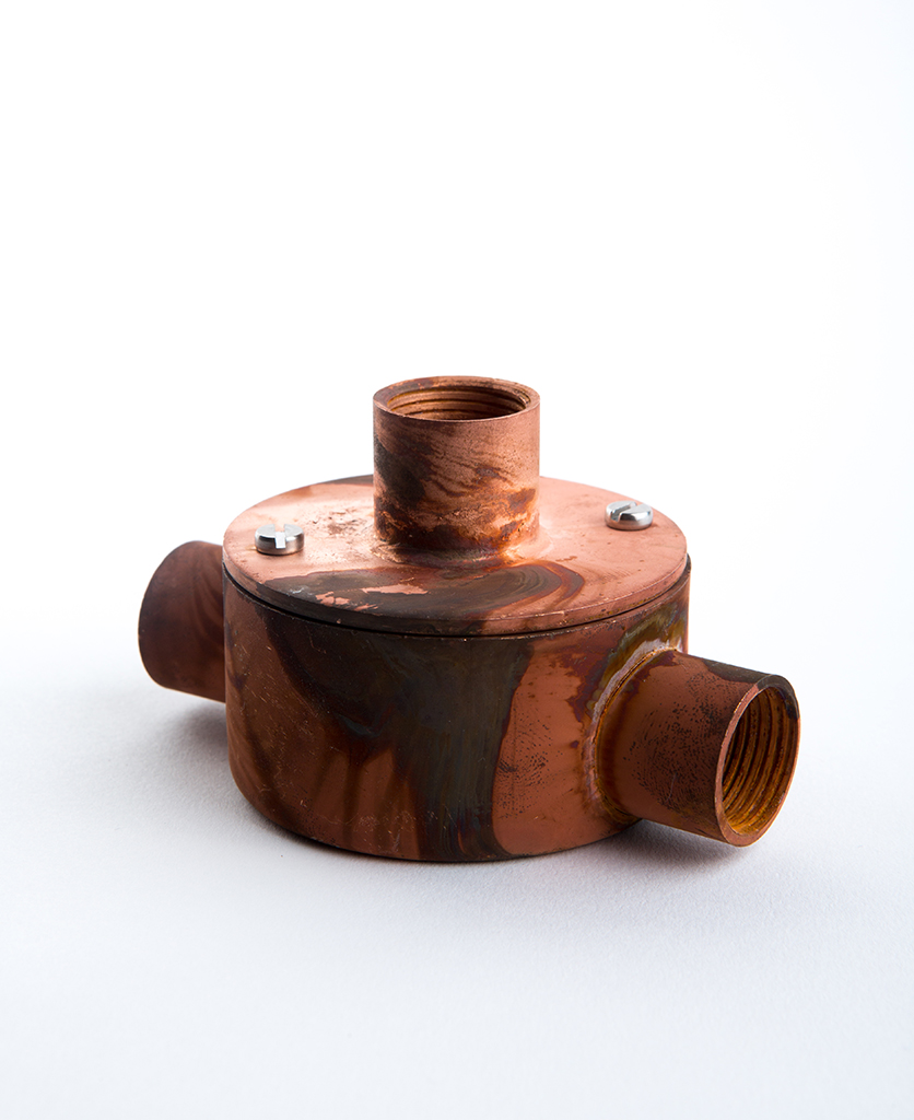 tarnished copper 2 entry conduit with adapter