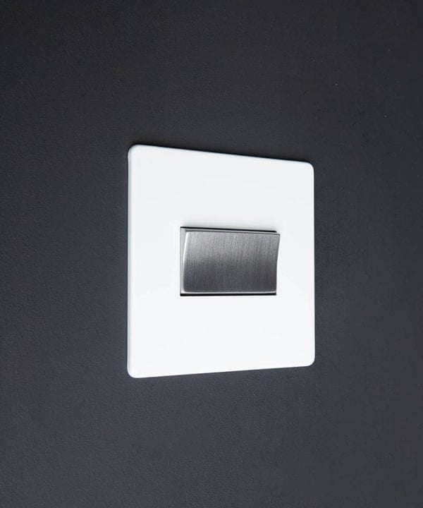 white & silver triple pole fan switch
