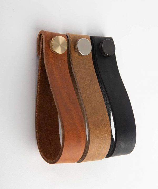 MAGNI large leather kitchen door handles