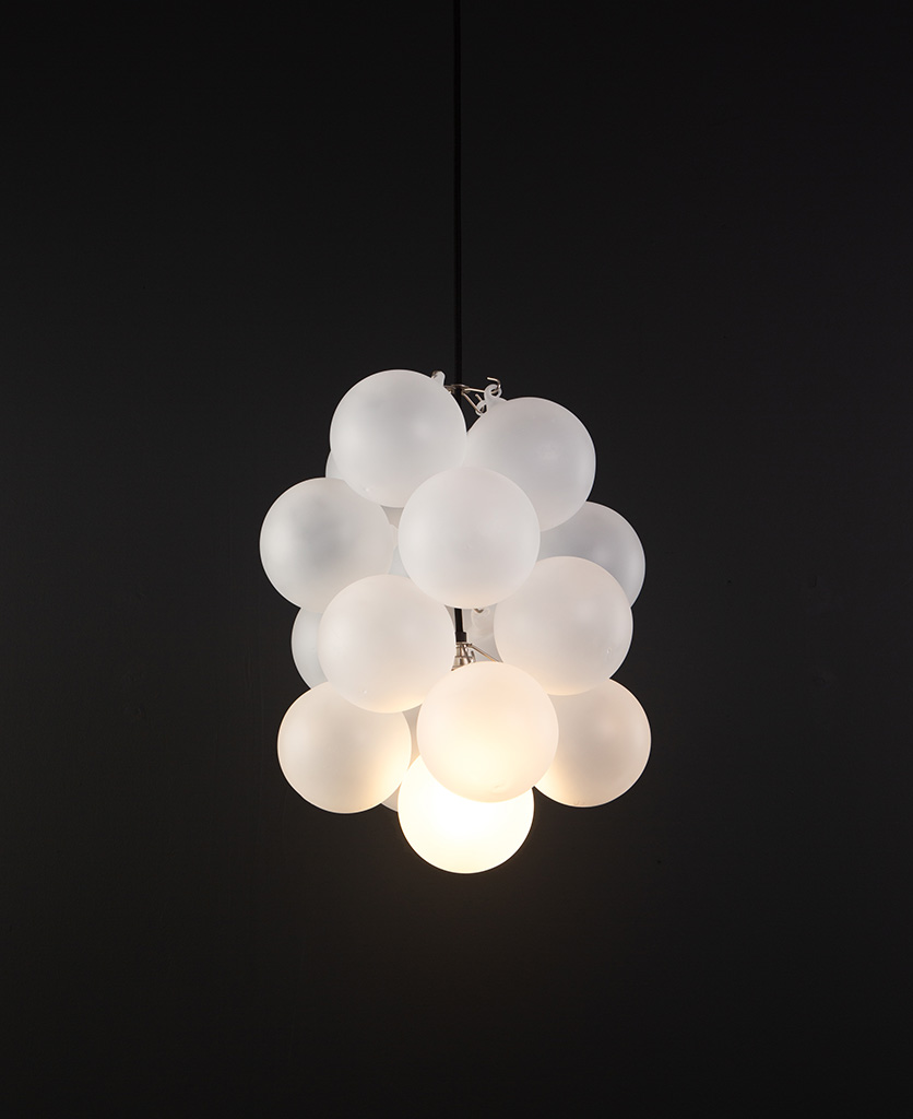 frosted glass bubble chandelier