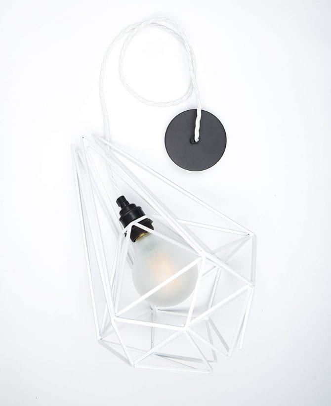 oolong frosted cage pendant light