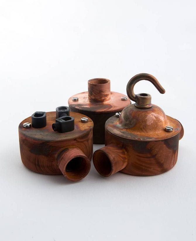 Tarnished Copper Conduit Rose