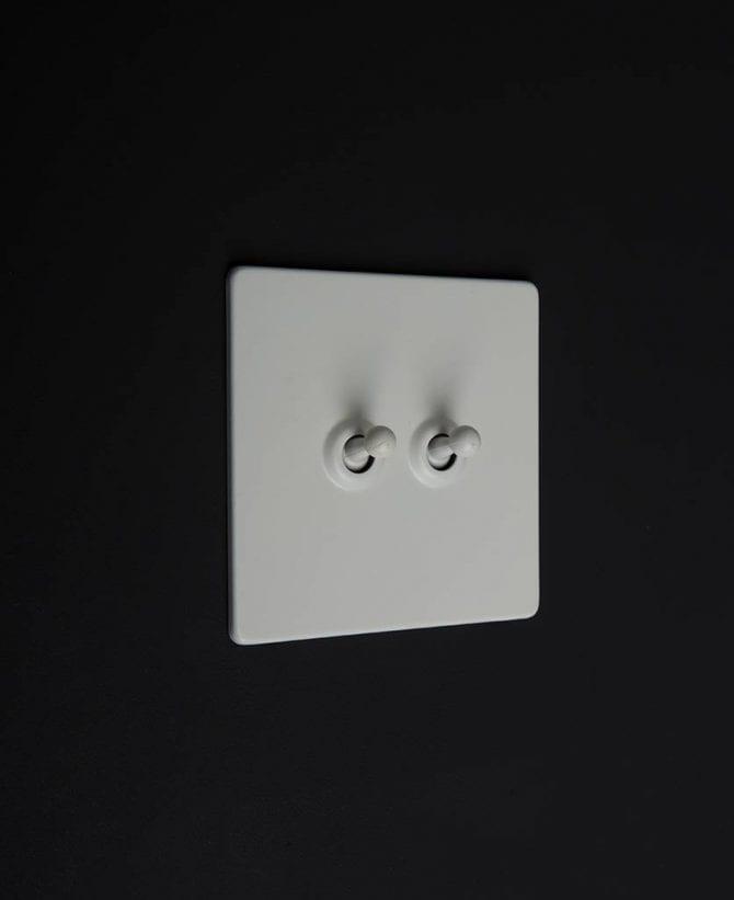 white & white double toggle