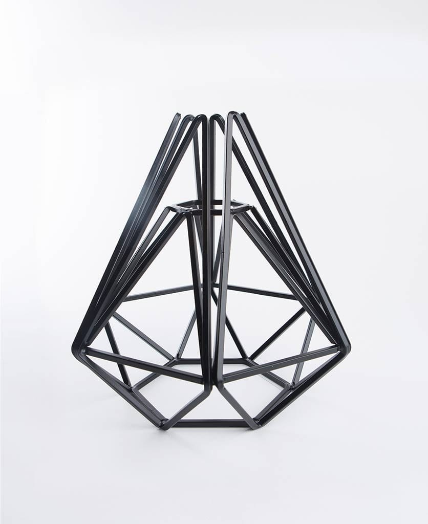 assam geometric cage against white background