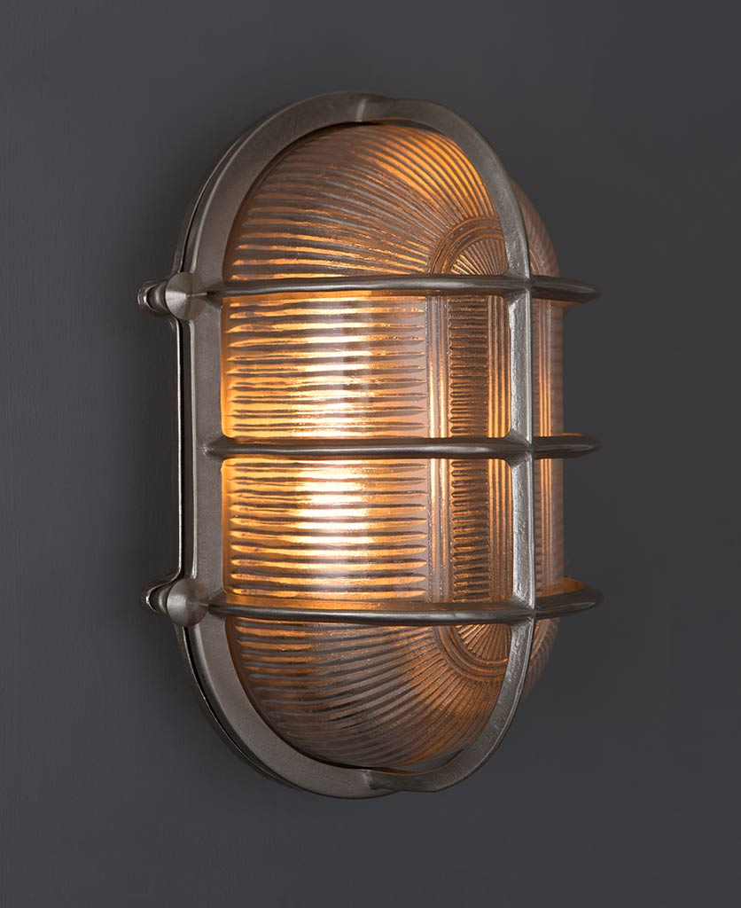 big steve silver bulkhead light