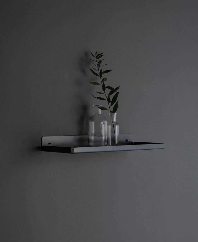 Earl Grey Metal Wall Shelves