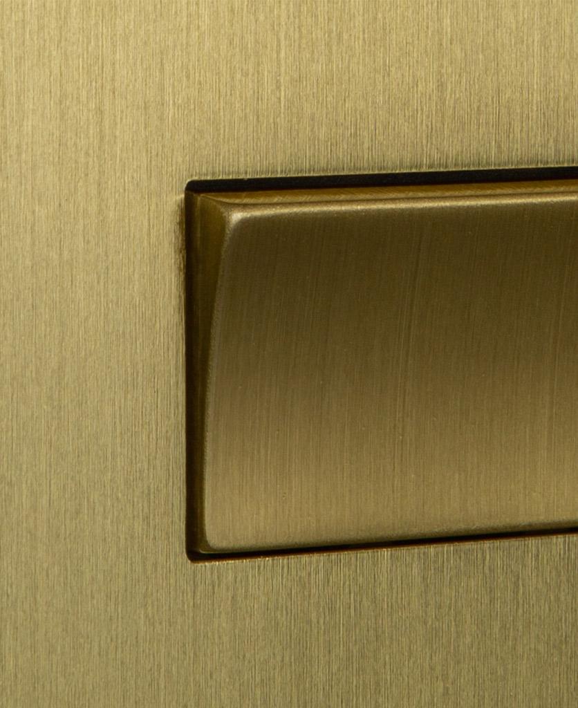 closeup of gold fan switch