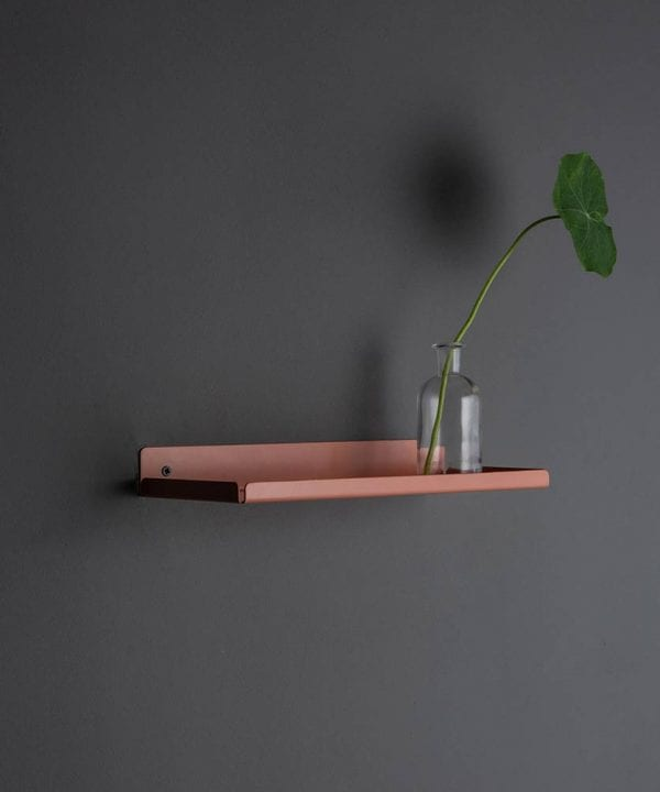 pink chai metal wall shelves