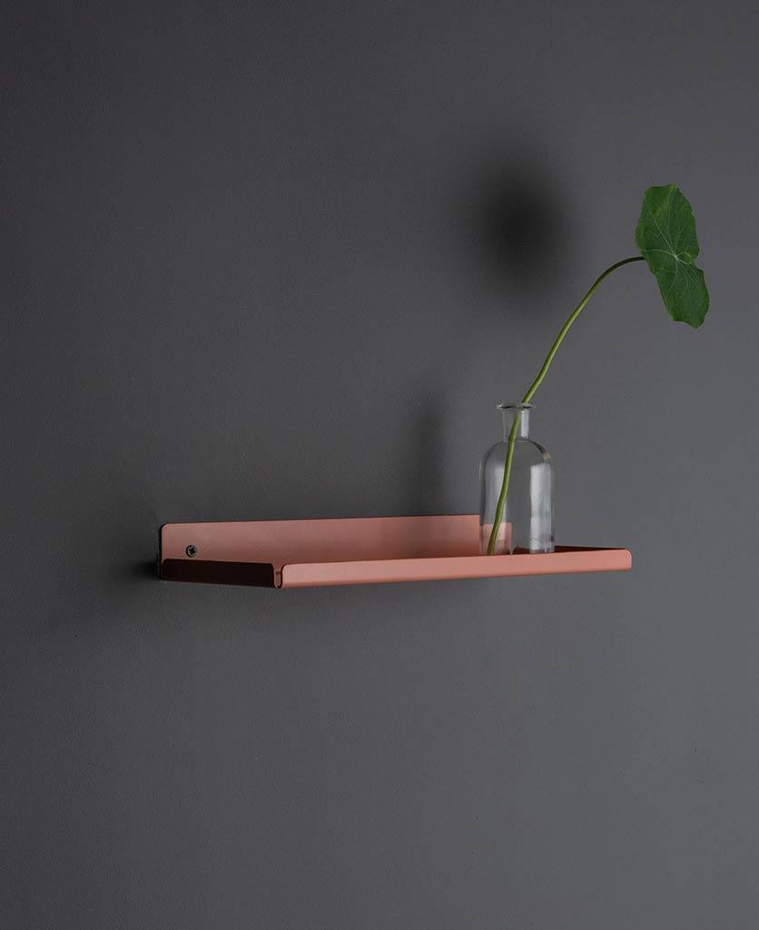 pink chai metal wall shelves