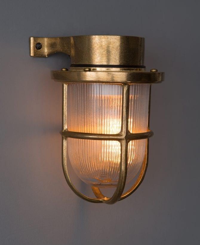 Simon brass bulkhead light