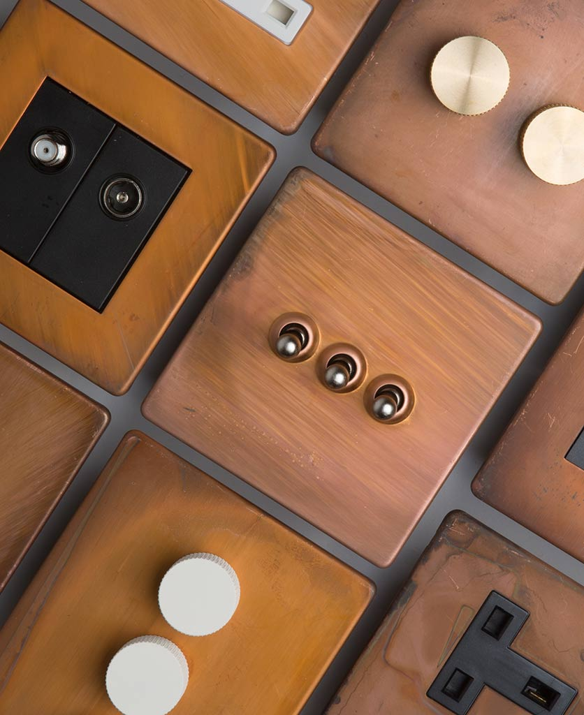 copper switches in autumnal tones