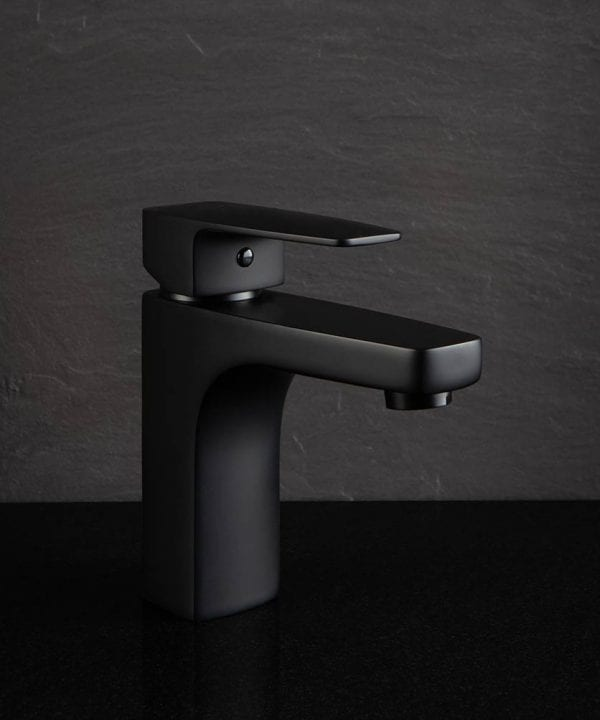 matt black taps for bathroom basin
