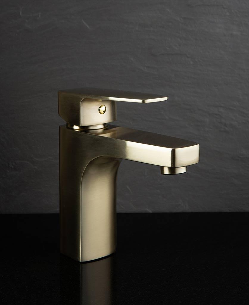 Barkana bathroom mixer tap gold