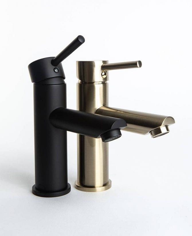 Kagera black and gold bathroom mixer taps