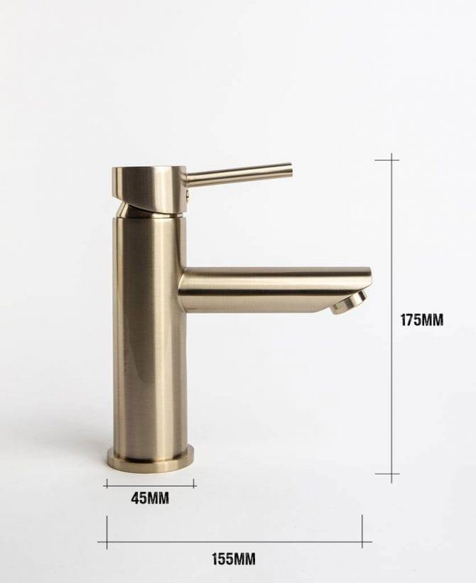 Kagera bathroom tap dimensions