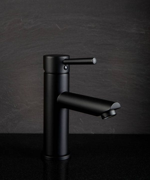 matt black Kagera bathroom mixer tap