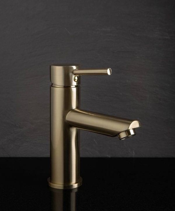 Kager satin gold bathroom mixer tap