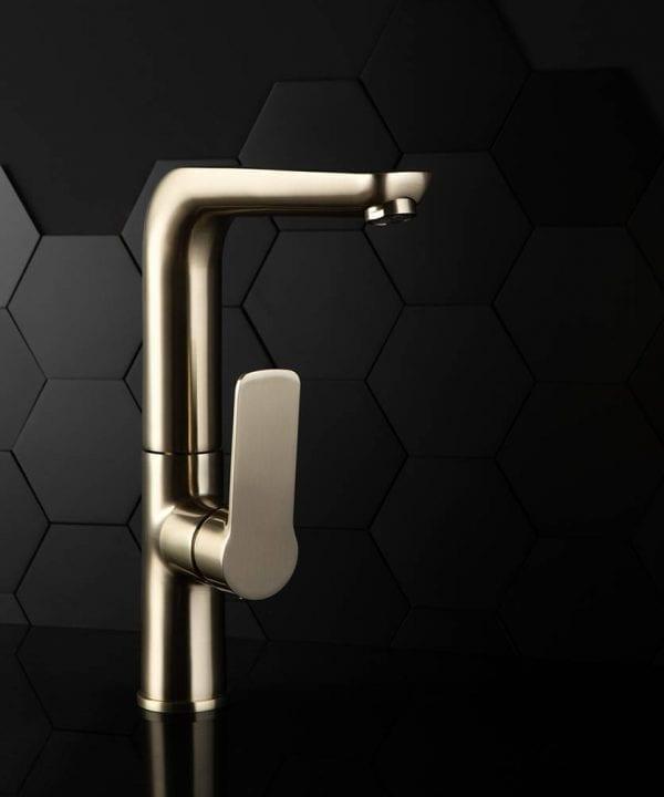 Satin gold madraka kitchen tap