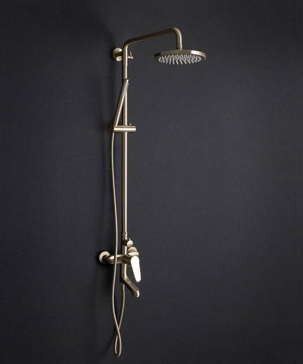 Tinago Gold Wall Mounted Shower with gold shower head