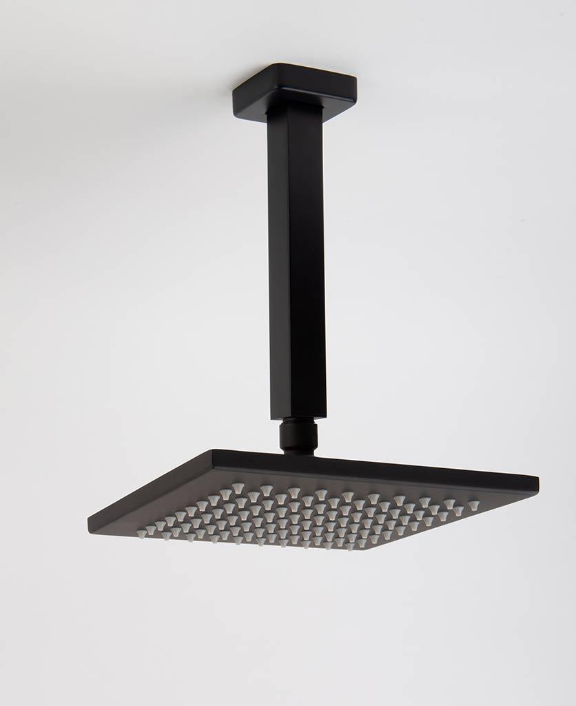 Hannoki black shower ceiling bar