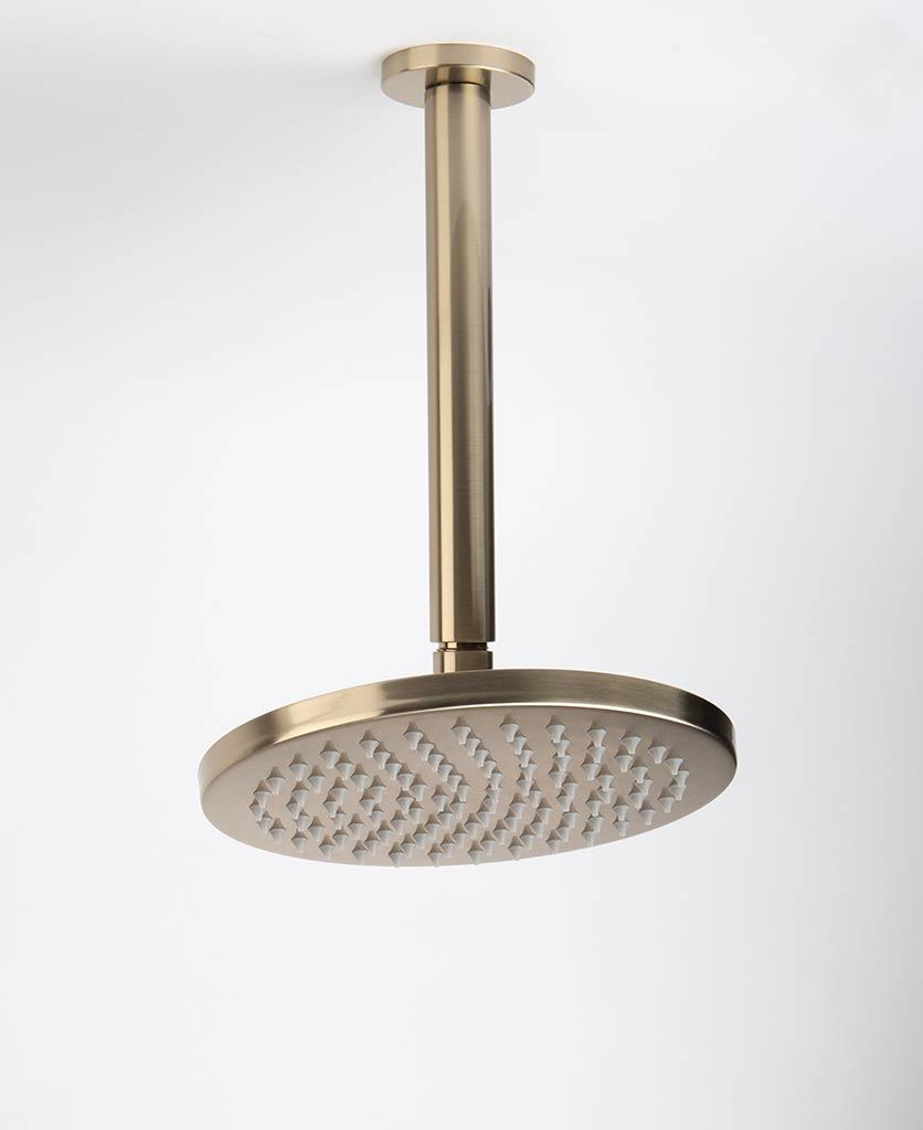 Gold shower ceiling bar