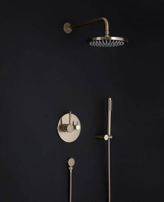 Havasu gold concealed shower