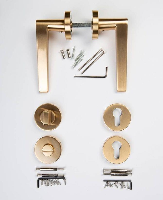 hepworth door handle thumb lock key escutcheon plate