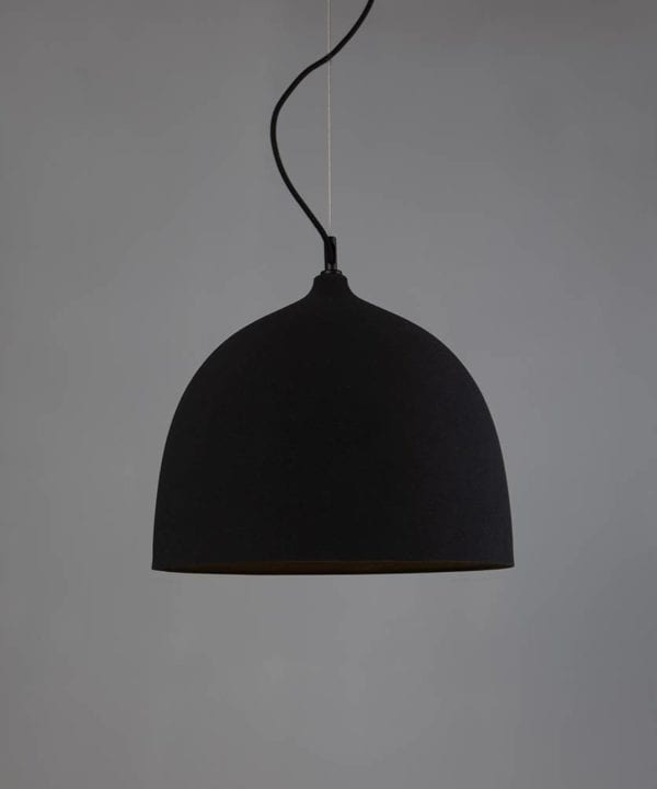 Basque black bowl pendant light
