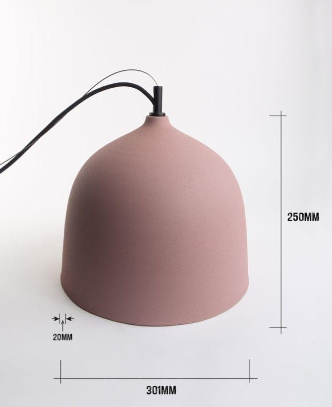Small Boccia bowl pendant dimensions