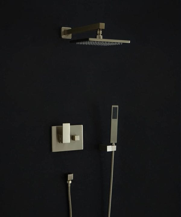 Hannoki rainfall shower head arm and hose set