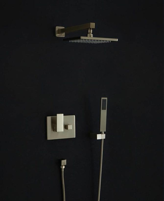 Hannoki gold concealed shower