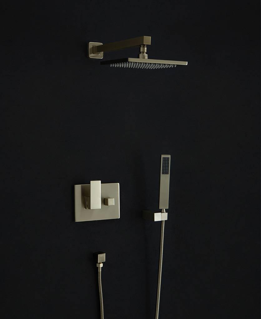 Hannoki rainfall shower head arm and hose set